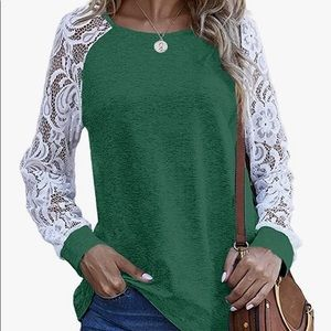 Lace detail casual top